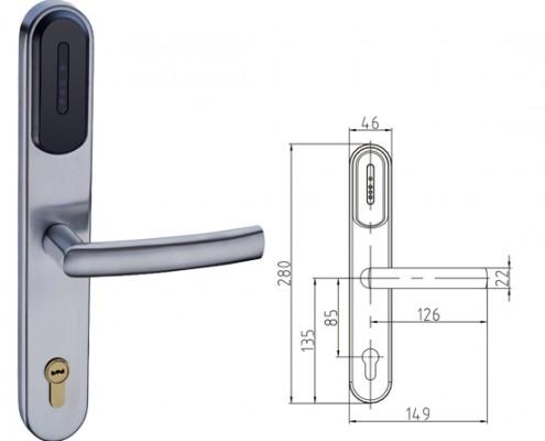 Κλειδαριά ασφαλείας RF για πόρτες αλουμινίου-πλαστικές-ξύλου